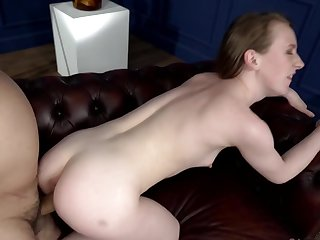 Fortuitous old man will go deep and hard in her young pussy