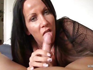 Katie Pears In German Mom Teased Blowjob And Handjob Be incumbent on Stepson, Pov