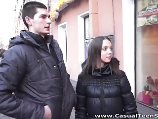 Russian casual dealings video featuring amateur student Foxy Di