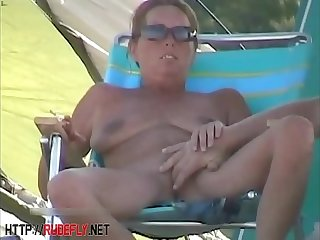 Amazing nudity be advisable for some babes on someone's skin beach