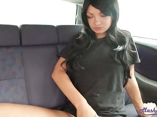 Booty Amateur Fingering Tight Pussy – Close-up in  the Car