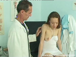 Adult doctor slides his prick in tight pussy of amateur Milada