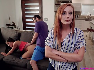 Nympho Kendra Spade seduces stepbrother in front be beneficial to stepmom