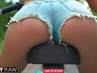 Tushy Side with Anal she Wanted the Biggest Dick she could Trapped in the brush Ass
